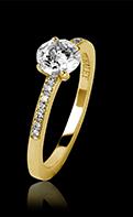 Bague de fiançailles diamant or jaune Judith