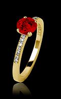 Bague de fiançailles rubis or jaune Judith
