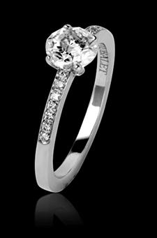 Bague de fiançailles diamant or blanc Judith